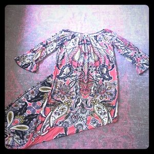 Haani paisley full length maxi paisley dress sz M